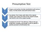 presumptive test