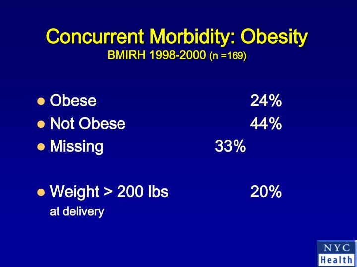 Concurrent Morbidity: Obesity