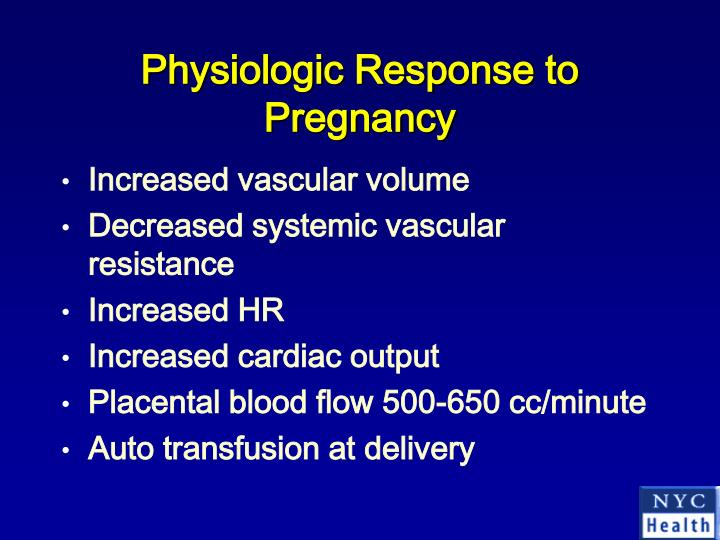 Physiologic Response to Pregnancy