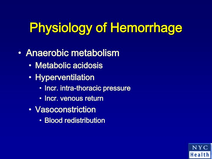 Physiology of Hemorrhage