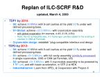 replan of ilc scrf r d updated march 4 2008