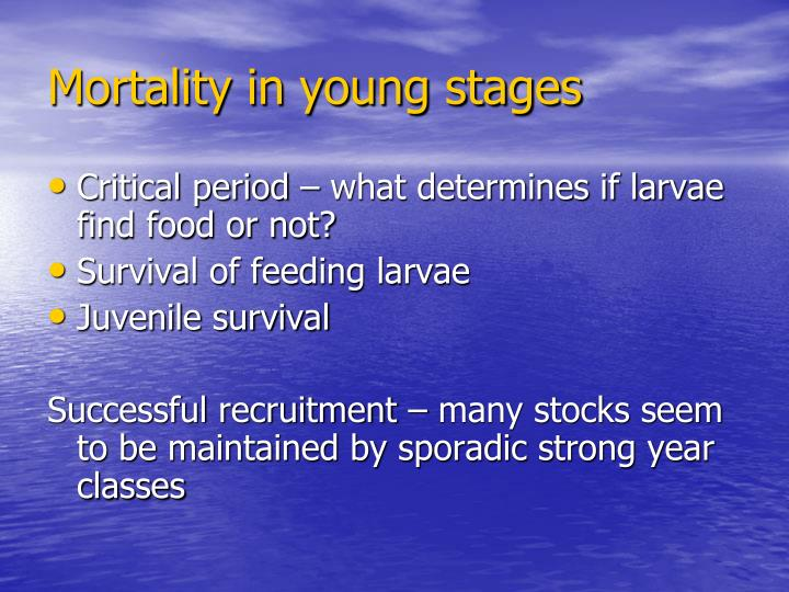 Mortality in young stages