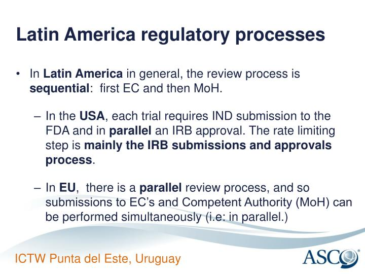 Latin America regulatory processes