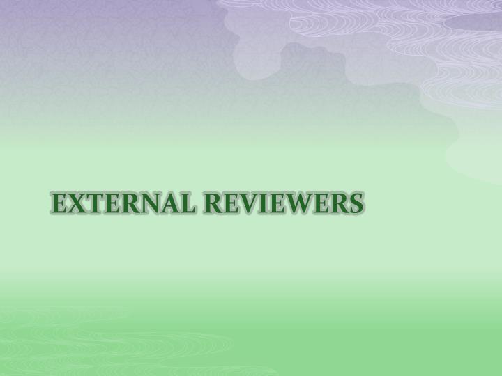 External reviewers