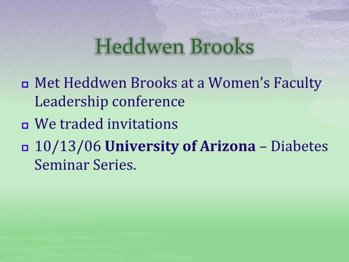 Heddwen Brooks