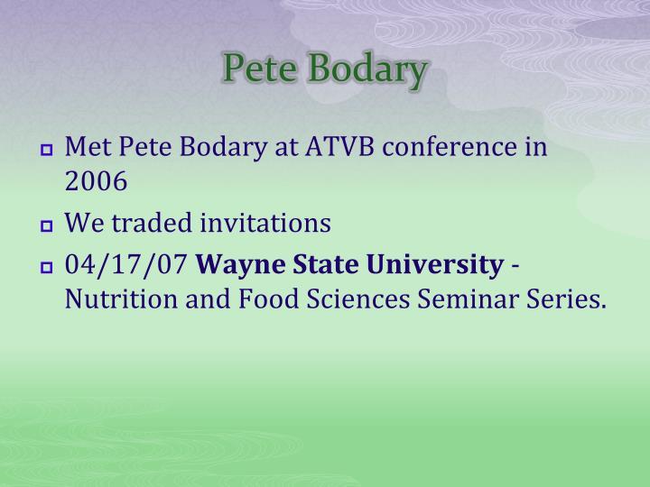 Pete Bodary