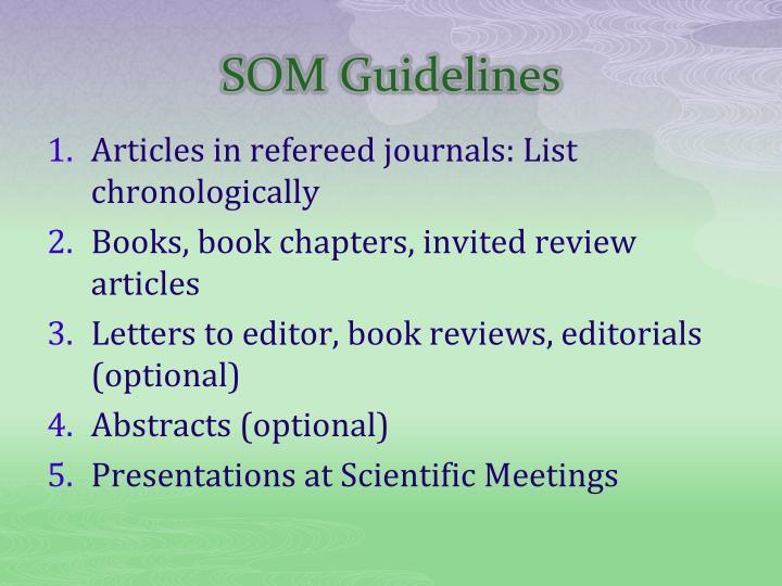 SOM Guidelines