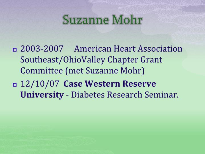Suzanne Mohr
