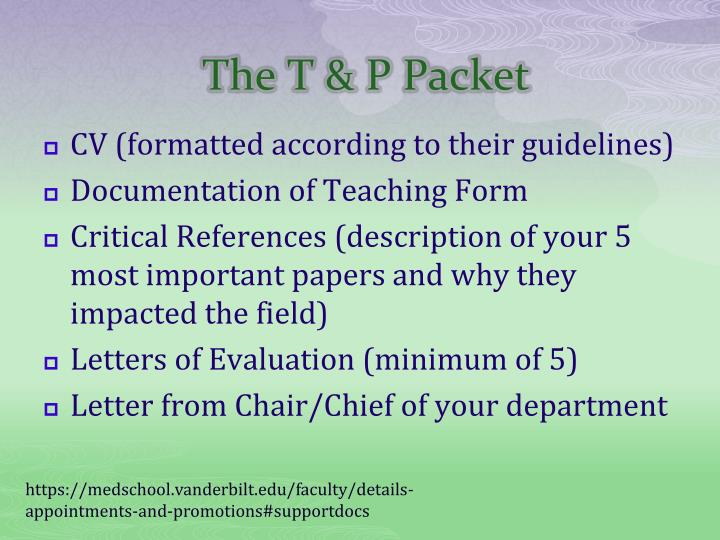 The T & P Packet