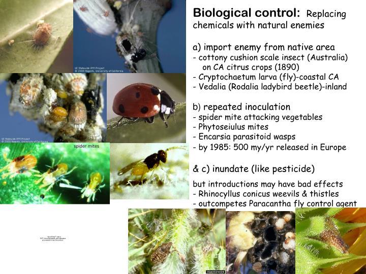 Biological control: