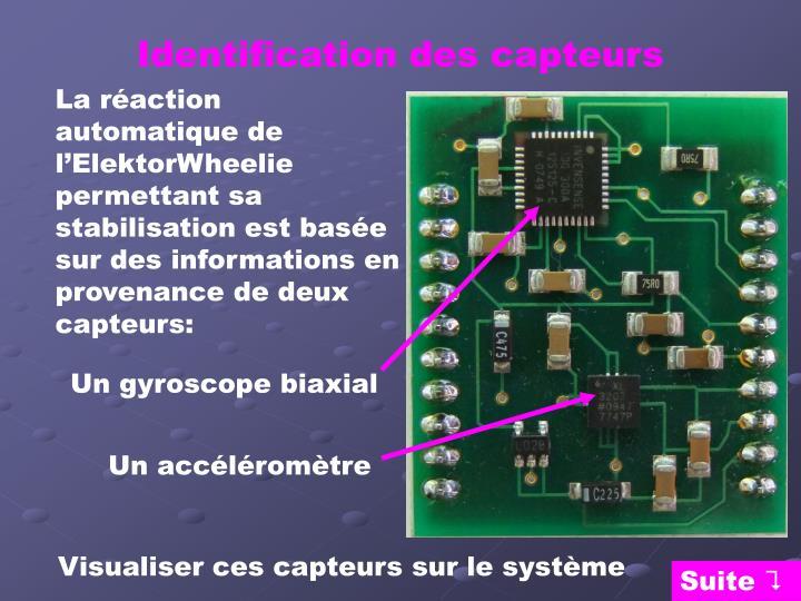 Identification des capteurs