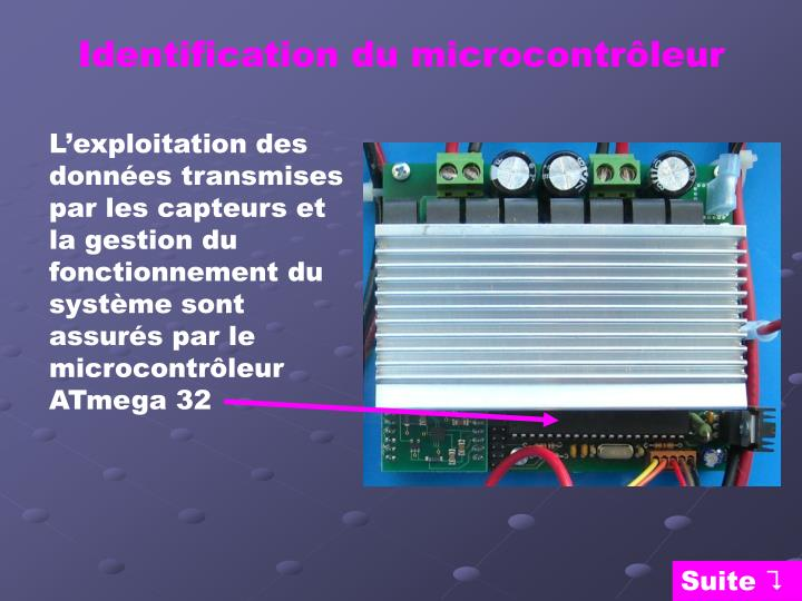 Identification du microcontrôleur