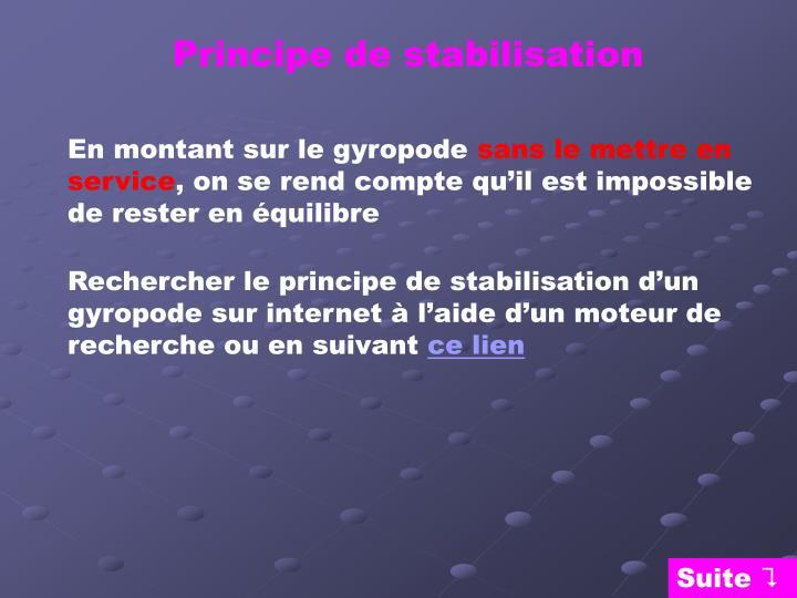 Principe de stabilisation