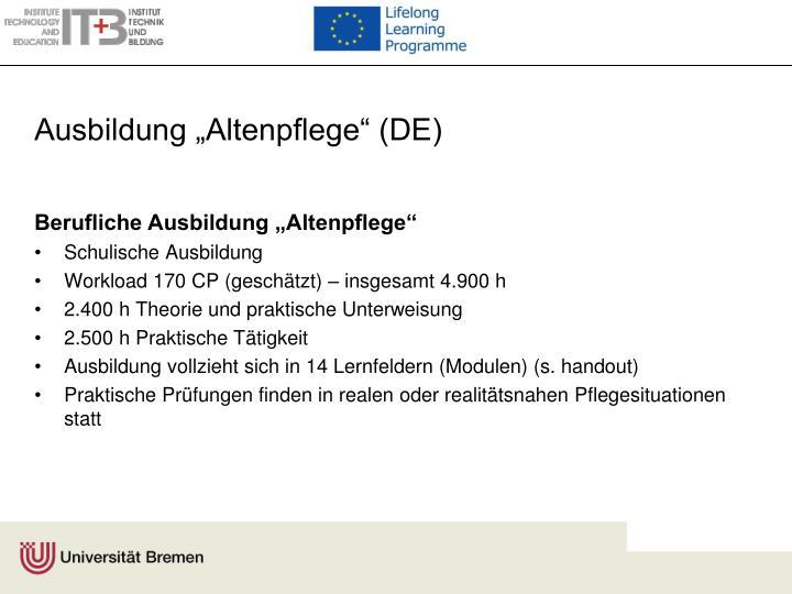 "Ausbildung ""Altenpflege"" (DE)"