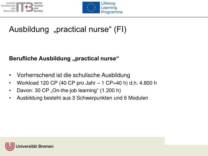 "Ausbildung  ""practical nurse"" (FI)"