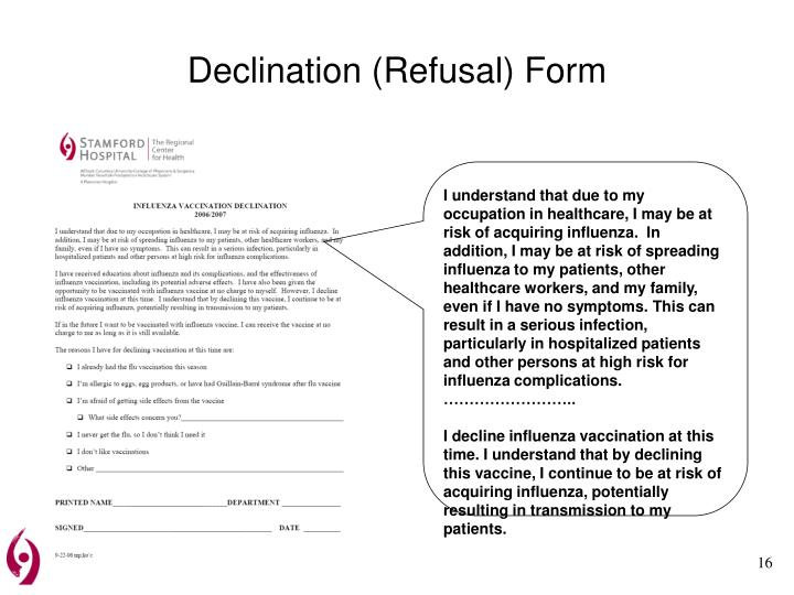 Declination (Refusal) Form