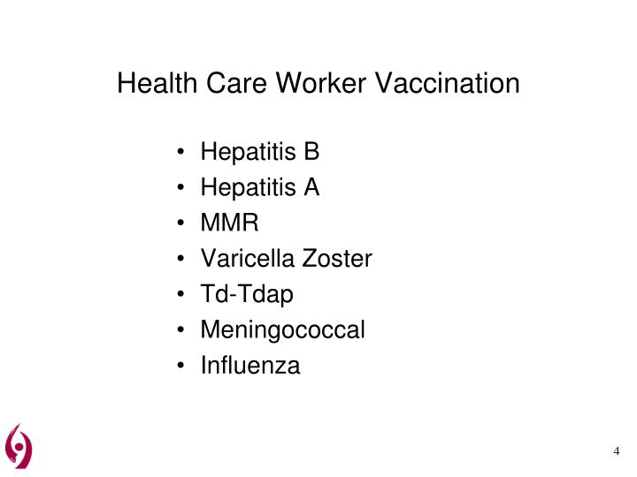Health Care Worker Vaccination