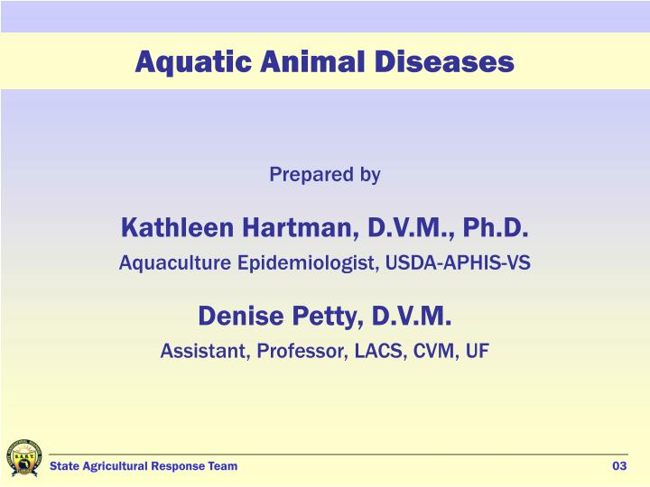 Aquatic animal diseases1