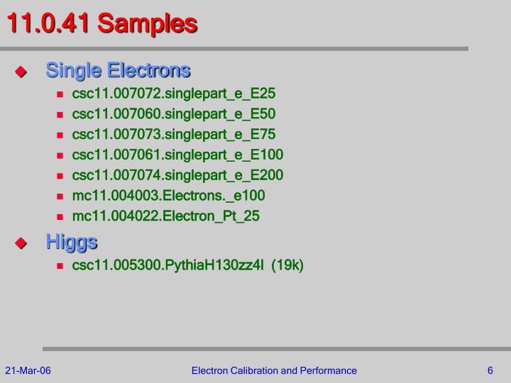 11.0.41 Samples