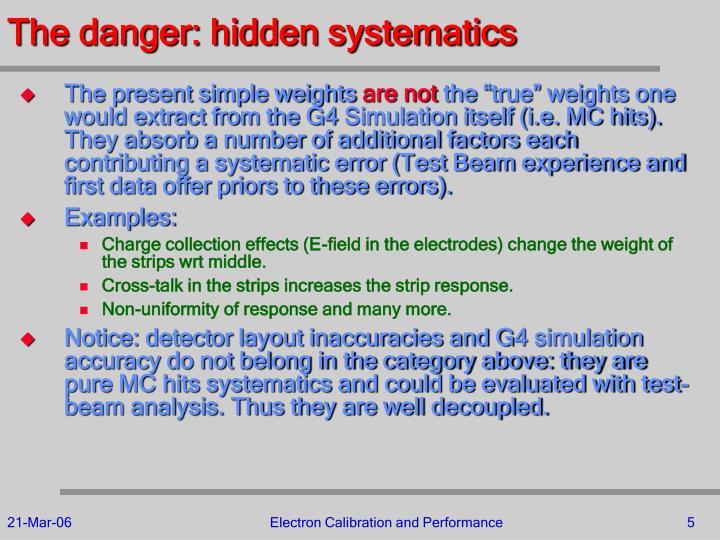 The danger: hidden systematics