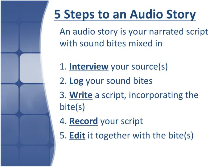 5 Steps to an Audio Story