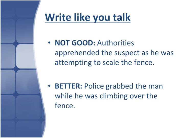 Write like you talk