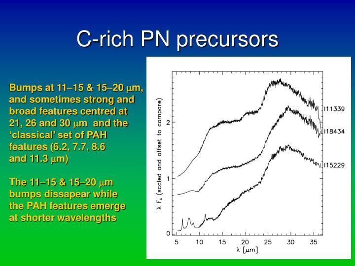 C-rich PN precursors
