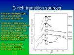 c rich transition sources