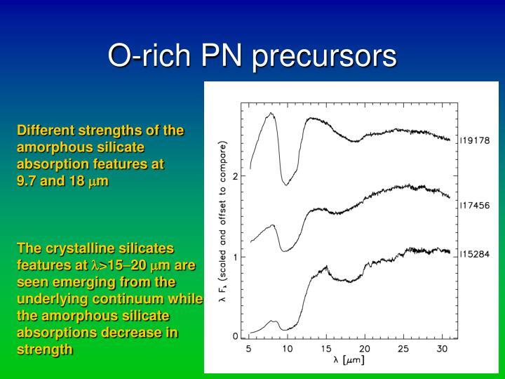 O-rich PN precursors