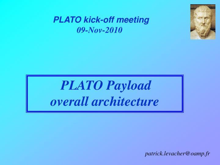 PLATO kick-off meeting