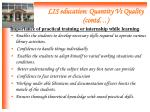 lis education quantity vs quality contd