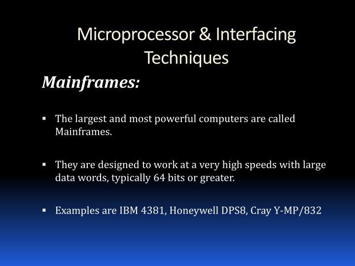 Microprocessor & Interfacing Techniques