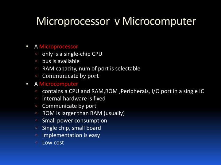 Microprocessor  v Microcomputer