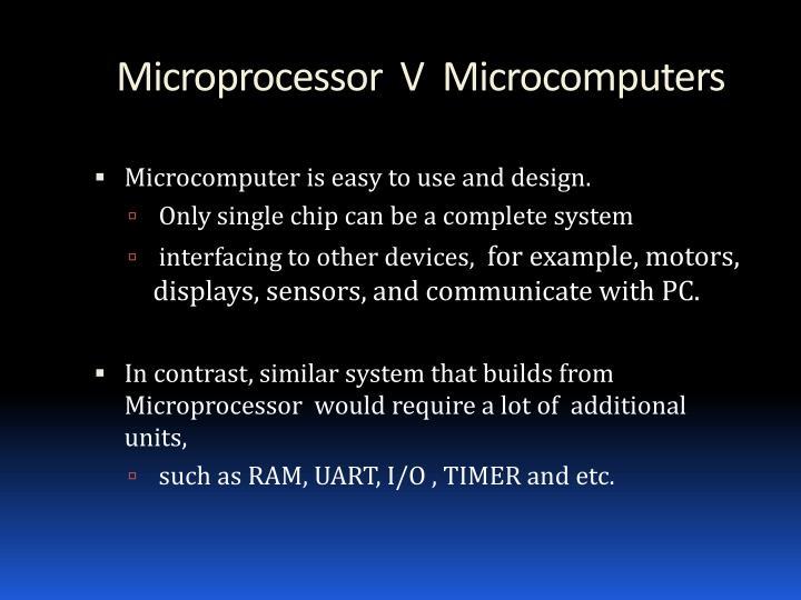 Microprocessor  V  Microcomputers