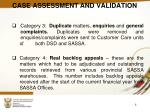 case assessment and validation1
