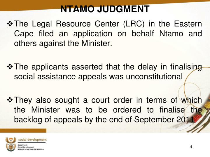 NTAMO JUDGMENT