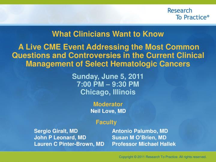 What Clinicians Want to Know