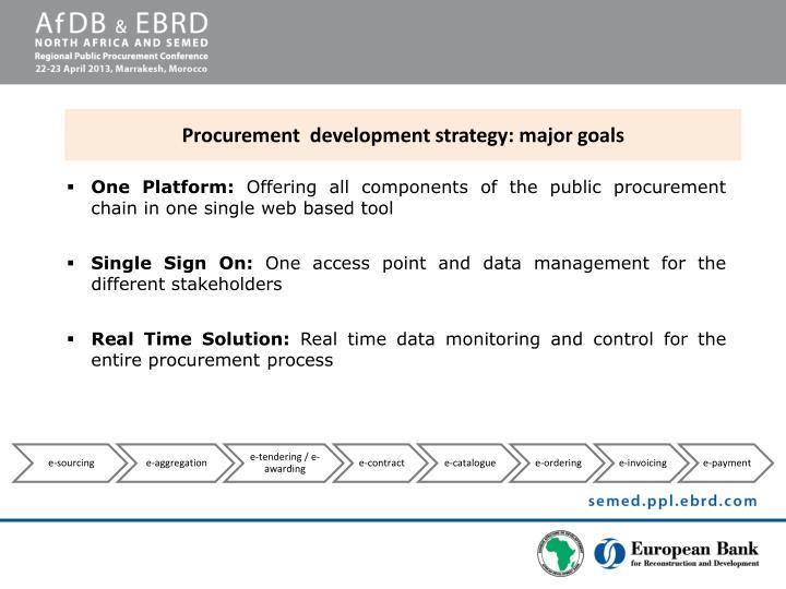 Procurement  development strategy: major goals