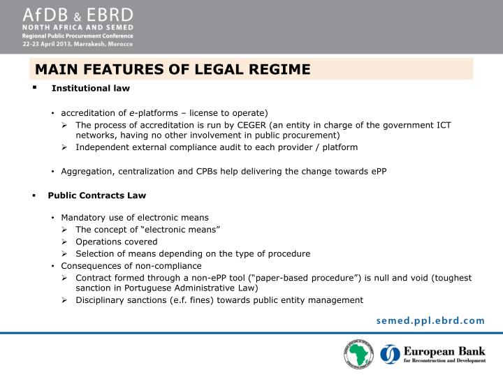 MAIN FEATURES OF LEGAL