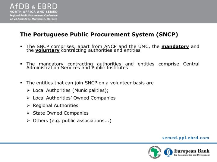 The SNCP comprises, apart from ANCP and the UMC, the