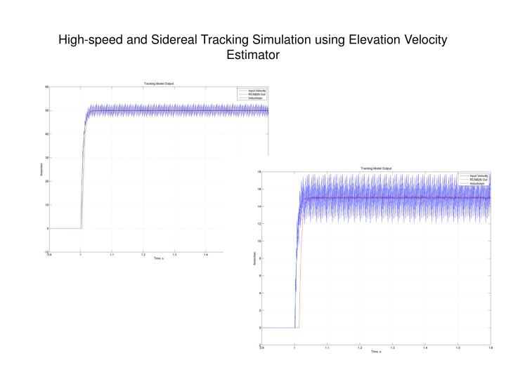 High-speed and Sidereal Tracking Simulation using Elevation Velocity Estimator