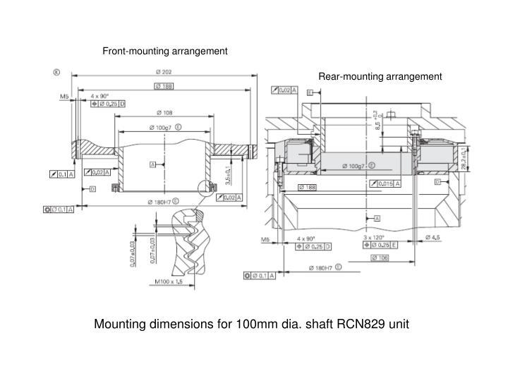 Front-mounting arrangement