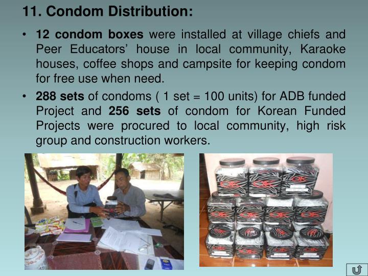 11. Condom Distribution: