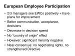 european employee participation