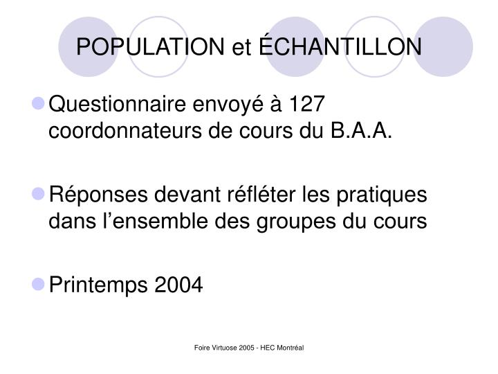 Population et chantillon