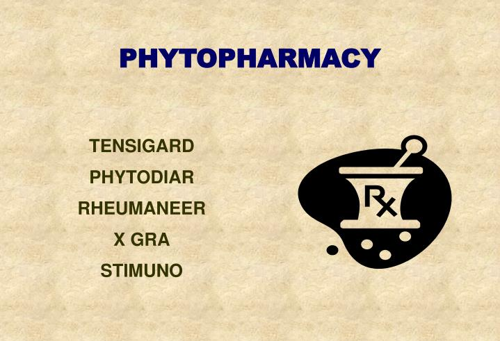 PHYTOPHARMACY