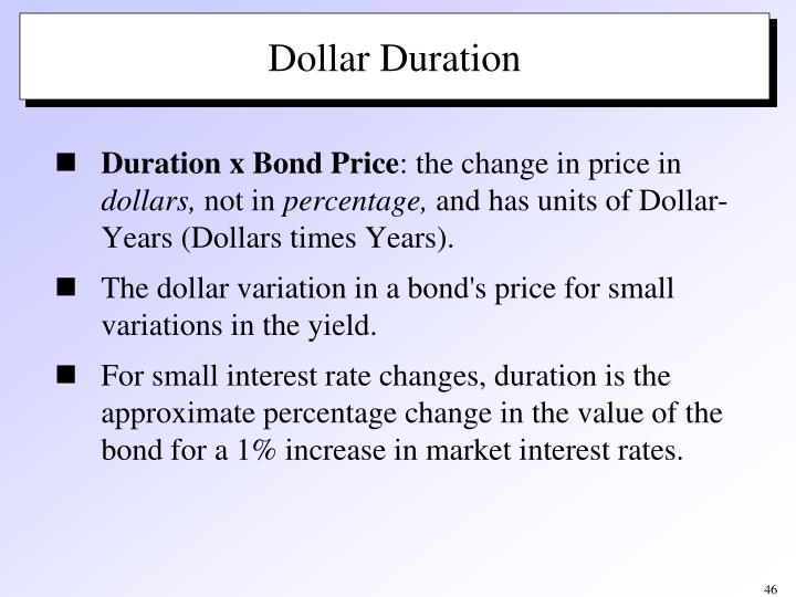 Duration x Bond Price