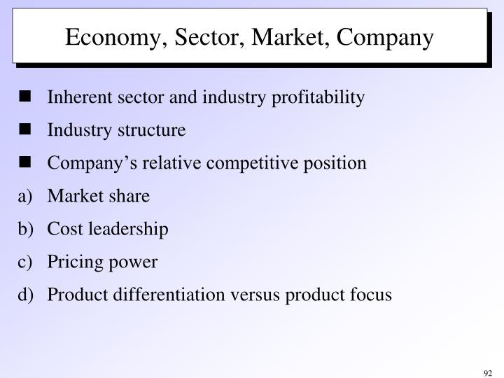 Economy, Sector, Market, Company
