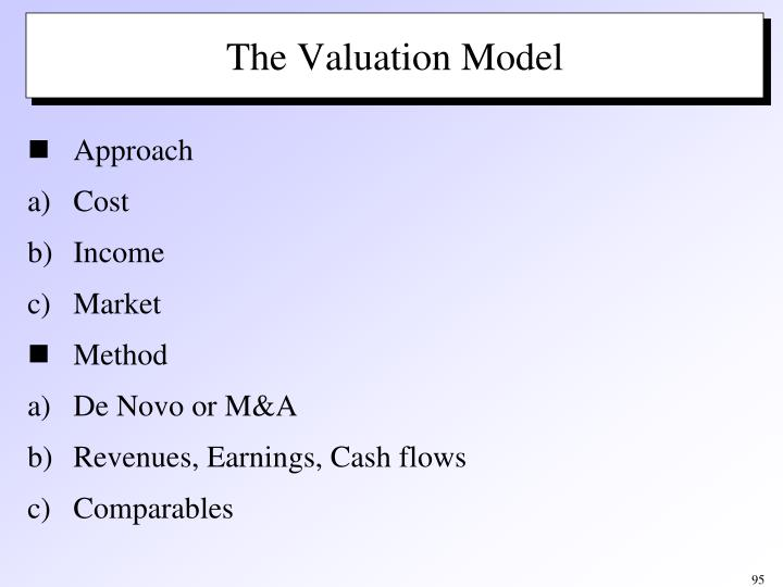 The Valuation Model
