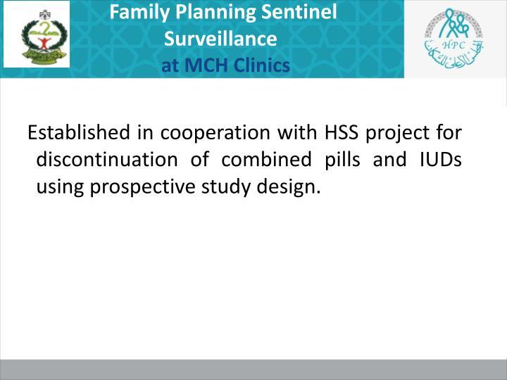 Family Planning Sentinel Surveillance